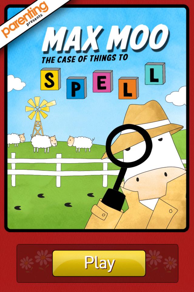 Screenshot Parenting's Max Moo Spelling